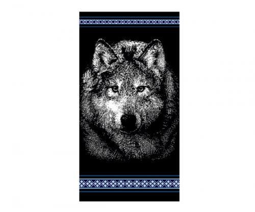 Полотенце махровое (4124, Волк)