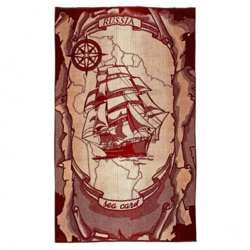 Полотенце махровое (2862, Корабль)
