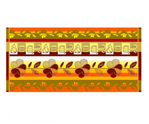Полотенце махровое С-106 2539 Цветочное