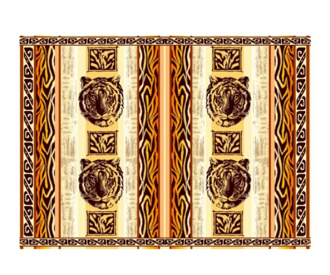 Махровая простынь С-101 2396 Тигр