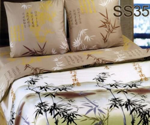 Постельное белье. Сатин «Лаванда» Бамбук SS35