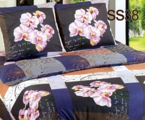 Постельное белье. Сатин «Лаванда» Орхидея SS38